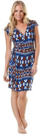 $44.50 QUIKSILVER GIRLS ISLAND GEO WRAP DRESS