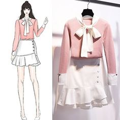 Perfect Clothing Colour Combinations For 2020 Fashion Drawing Dresses, Fashion Illustration Dresses, Fashion Dresses, Cute Fashion, Look Fashion, Girl Fashion, Fashion Ideas, Korea Fashion, Asian Fashion