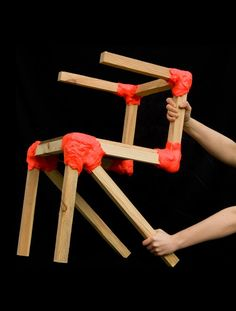 workshop chair by Jerszy Seymour using polycaprolactone wax to join parts together