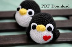 PATTERN Crocheted PENGUIN Plush Amigurumi di GraceByGrace su Etsy