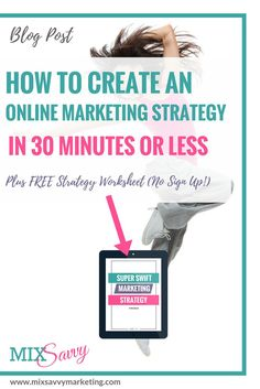 Online Marketing | Strategy | Free Worksheet