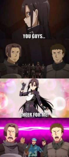 Sword Art Online II-- Lol oh my gosh this part. He went there.