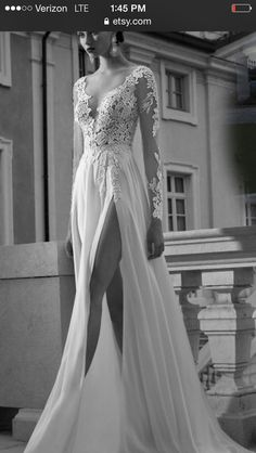 Wedding dress from etsy