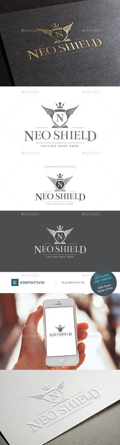 Neo Shield Logo Template — Vector EPS #boutique #refined crest logo • Available here → https://graphicriver.net/item/neo-shield-logo-template/11580329?ref=pxcr