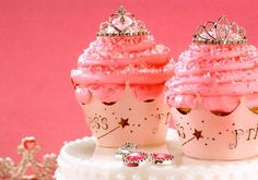 Princess cupcakes for baby shower :)