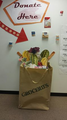 Donation Barrel turned into a grocery bag!