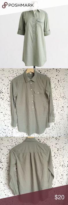 """J. Crew Popover Tunic J. Crew popover tunic. Good, gently used condition. Size XXS. Style C9354. From spring of 2016 collection! 17"""" armpit to armpit. Cotton. J. Crew Factory Tops Tunics"""