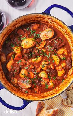 Crazy Flavorful Lamb Stew Is Like A Hug In A Bowl This hearty stew is a nice alternative for Easter dinner. Get the recipe from .This hearty stew is a nice alternative for Easter dinner. Get the recipe from . Slow Cooker Recipes, Cooking Recipes, Lamb Dishes, Healthy Recipes, Tofu Recipes, Meal Recipes, Healthy Food, Comfort Food, Soup And Salad