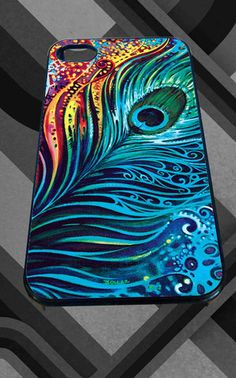 Peacock Feathers Colorful for iPhone 4/4s/5/5S/5C/6, Samsung S3/S4/S5 Unique Case *95* - PHONECASELOVE