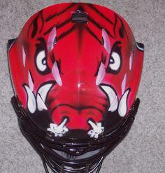 Arkansas Razorbacks catcher mask