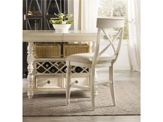 Hooker Furniture Dining Room Beaufort House X Back Counter Stool Light 5304 75450