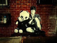 Beatle with panda by Mr Brainwash NY City © 2009 Devyn