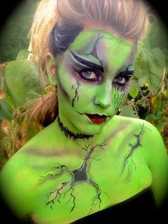 green bride of frankenstein makeup - Google Search