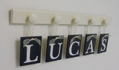 Navy Blue Decorative Letters for Nursery Wall Set by NelsonsGifts, $25.00