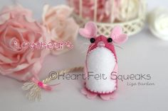 """HeartFelt Squeaks - Limited Edition Valentines collection;   """"Loveheart"""" www.facebook.com/heartfelthoots"""