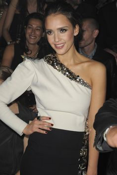 Jessica Alba Front Row at Lanvin