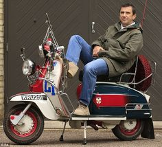 Mod-ding around: 36-years after starring in the iconic film, Quadrophenia - which tells the story of a group of young Mods from London - hit cinemas, Phil Daniels was reunited with his famous scooter from the movie