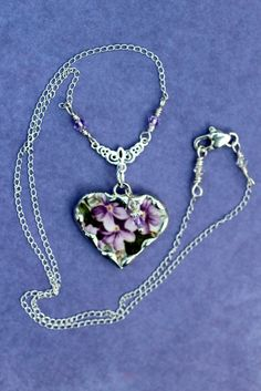 Broken China Jewelry China Heart Pendant by Robinsnestcreation1
