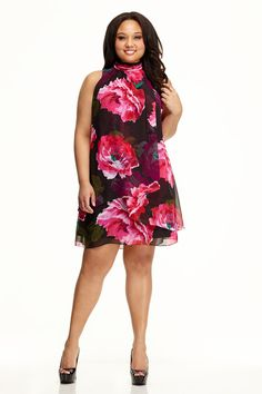 Plus Size Floral Tiered Dress