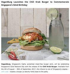 VeganBurg Launches the Chili Krab Burger to Commemorate Singapore's 52nd Birthday