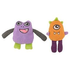 Squeaker Monster Dog Toy - Multi Color (Small) (2 Pack)