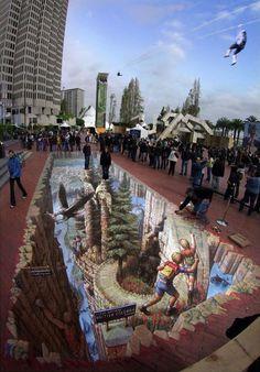 Northwest Fantasy | Pavement Art Gallery 4 | Kurt Wenner - Master Artist, Architect, and Street Painter