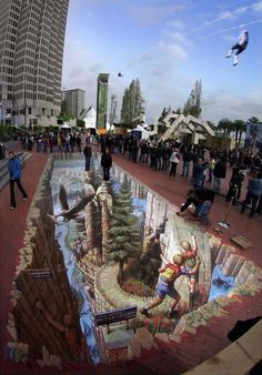 Northwest Fantasy | Pavement Art Gallery 4 | Kurt Wenner - Master Artist, Architect, and Street Painter