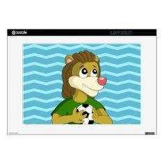 Cute lion cartoon laptop skin