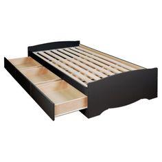 Prepac Bed Sets Sonoma Black Queen 6-Drawer Platform Storage Bed BBQ-6200-3K