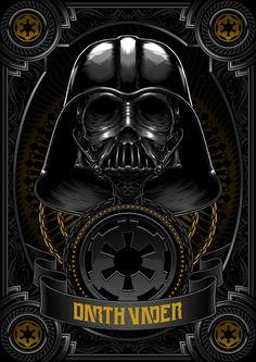 Death Side Series: Darth Vader & Shadow Stormtrooper by Charles AP | Abduzeedo Design Inspiration