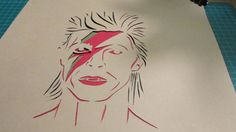 David Bowie by HandcutPaperMemories on Etsy