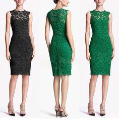 Elegant Women ladies Lace Sleeveless Slim Floral Mini Dress Skirts Sz S/M/L Grad Dresses, Dresses Uk, Elegant Woman, Lace Tunic, Batik Dress, Vintage Inspired Dresses, Short Mini Dress, Party Gowns, Dress Skirt