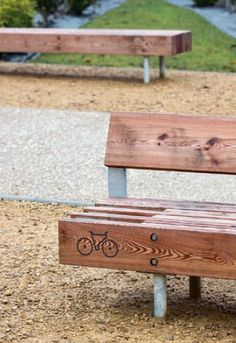 bench with bike rack by mmcité. Visit the slow ottawa boards. Parks Furniture, City Furniture, Urban Furniture, Street Furniture, Furniture Outlet, Concrete Furniture, Office Furniture, Rack Velo, Bike Rack