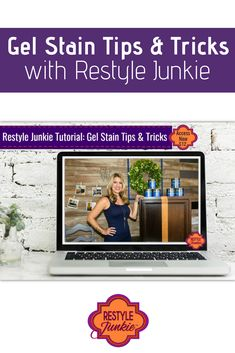 Want beautiful, rich wood cabinets without having to strip them? This video tutorial walks you through everything you need to know!  Gel Stain Tips & Tricks   Restyle Junkie   #GelStain   #RefinishedCabinets   #GeneralFinishes   #TipsAndTricks   #HowToVideo   #Tutorial Glazing Furniture, Furniture Making, Java Gel, Cabinet Refinishing, Cabinet Paint Colors, General Finishes, Diy Home Improvement, Painting Cabinets, Wood Cabinets