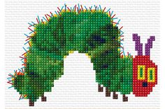 Very Hungry Caterpillar Cross Stitch Kit by WhistlingDoe on Etsy
