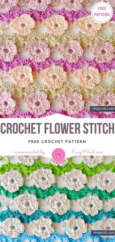 Crochet Flower Stitch Free Pattern on easywool.com #freecrochetPatterns #afghan #freecrochetPatternsforafghan #freecrochetPatternsforblanket #crochetstitch #crochet #crochetfreepatternsforhome #crochetfreepatternsforsquare #crochetsquare #apachetears #nomadsquare #freecrochetPatterns #afghan #freecrochetPatternsforafghan #freecrochetPatternsforblanket #crochetstitch #crochet #crochetfreepatternsforhome