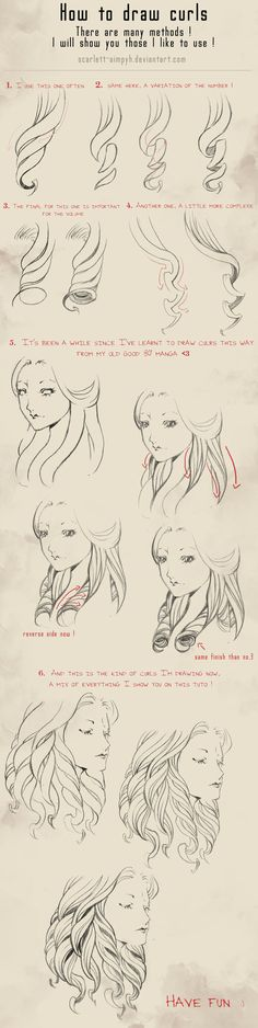 114 - How to draw curls by Scarlett-Aimpyh