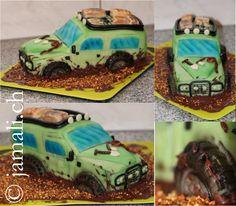 Offroad Auto Torte / Land Rover Cake / Car Cake / Cake Dekor by Cindy Brütsch / www.jamali.ch