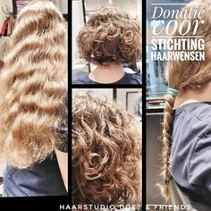 A wonderful donation a 35 cm long braid for Stichting Haarwensen Of these - The world's most private search engine Hair Due, Long Braids, Popular Pins, Hairdresser, Curls, Wigs, Dreadlocks, Hair Styles, Beauty