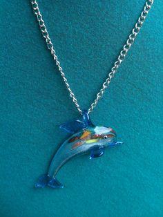 Murano Glass Dolphin necklace via Etsy