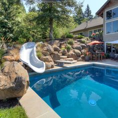 Swimming Pool Slide Ideas pool slides for your above ground portable pools above ground pools Swimming Pool Slide Design Ideas Pictures Remodel And Decor