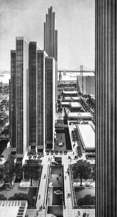 #Embarcadero Center, San Francisco, California, 1967 (Project)  (John Portman) #SF