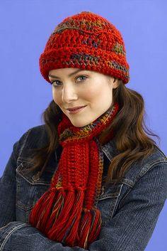 Easycrochetheartpattern red heart crochet patterns crochet ravelry 127 print crochet hat and scarf pattern by filatura di crosa free dt1010fo