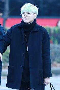 Yoongi looking like a grandpa. So cute ♡