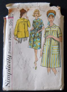 Simplicity 4572 Womens Pattern Smock Robe Duster Size 20 Bust 40 Cut #Simplicity