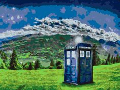 Dr. Who Tardis DIY Paint by number