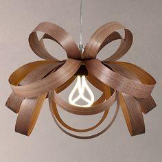 Buy Tom Raffield Skipper Pendant Light, Walnut Online at johnlewis.com
