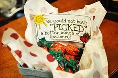 Tons of teacher appreciation gift ideas
