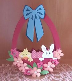 15 Paper Easter Baskets, all with links to FREE CUT FILES (Silhouette, SVG & others) plus a few bonus Easter container projects. ~Whatchaworkinon.com