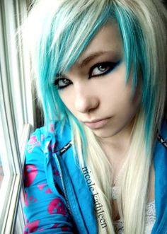 #blonde & #blue #hair